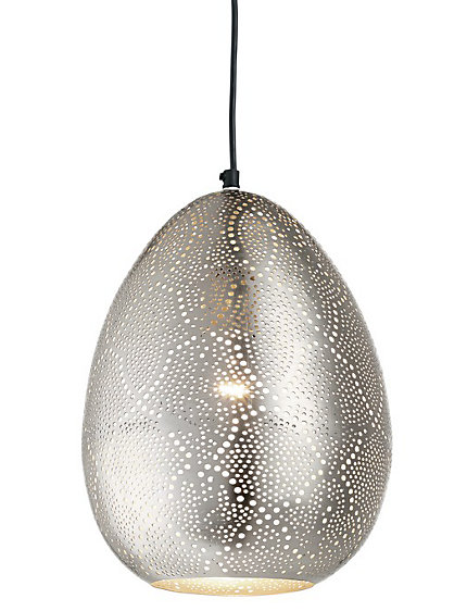 Luminaire suspension originale en m tal ajour oriental for Luminaire metal