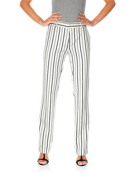 Pantalon ample femme forme classique rayures helline - Pantalon ample femme ...