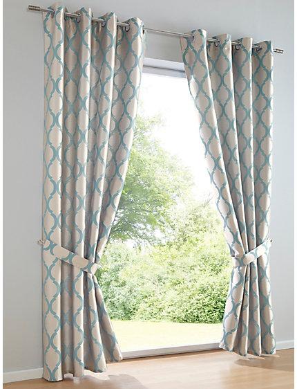 rideau en jacquard pais motif contrast brillant helline. Black Bedroom Furniture Sets. Home Design Ideas