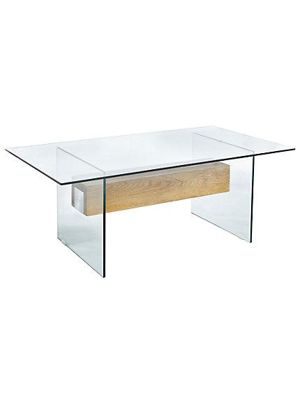 Table basse moderne bois et verre - Table basse bois et verre dessus ...