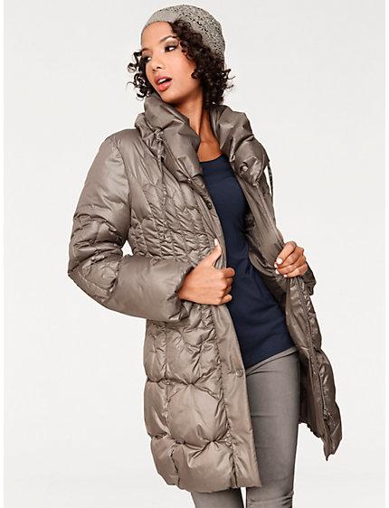 manteau doudoune femme matelass col large helline. Black Bedroom Furniture Sets. Home Design Ideas