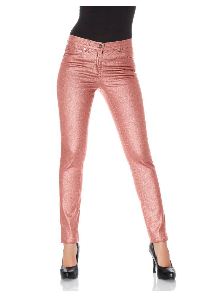 Pantalon slim enduit effet m tallis helline - Enduit lisse metallise ...