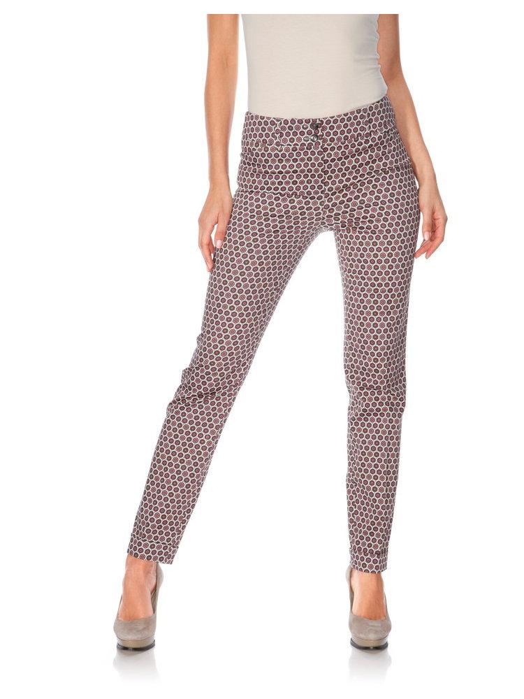 Pantalon femme coupe droite imprim chic et original helline - Pantalon coupe droite femme ...