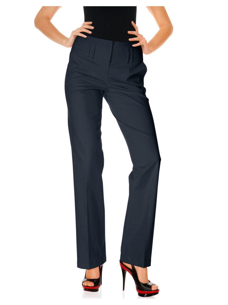 Pantalon femme coupe droite ceinture large plis helline - Pantalon coupe droite femme ...