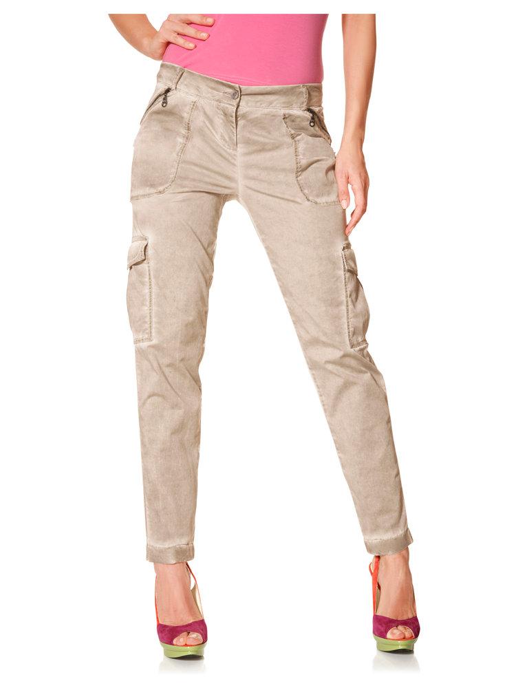 pantalon femme cargo aspect batik et poches lat rales helline. Black Bedroom Furniture Sets. Home Design Ideas