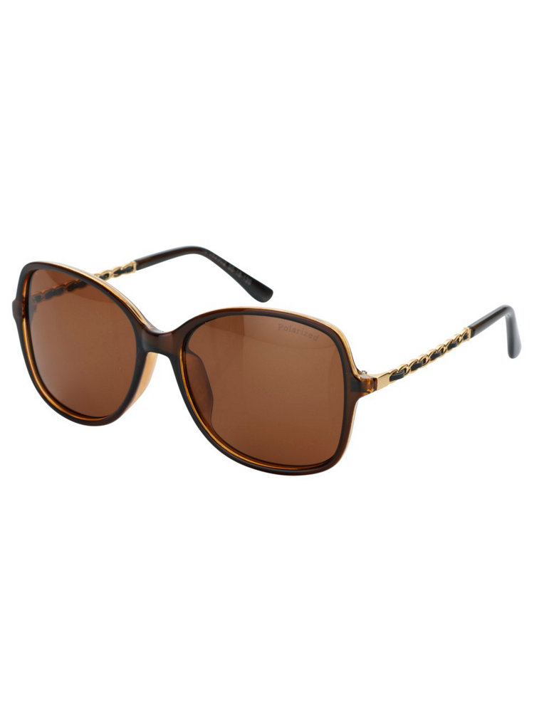 lunettes de soleil femme marrons verre polarisant helline. Black Bedroom Furniture Sets. Home Design Ideas