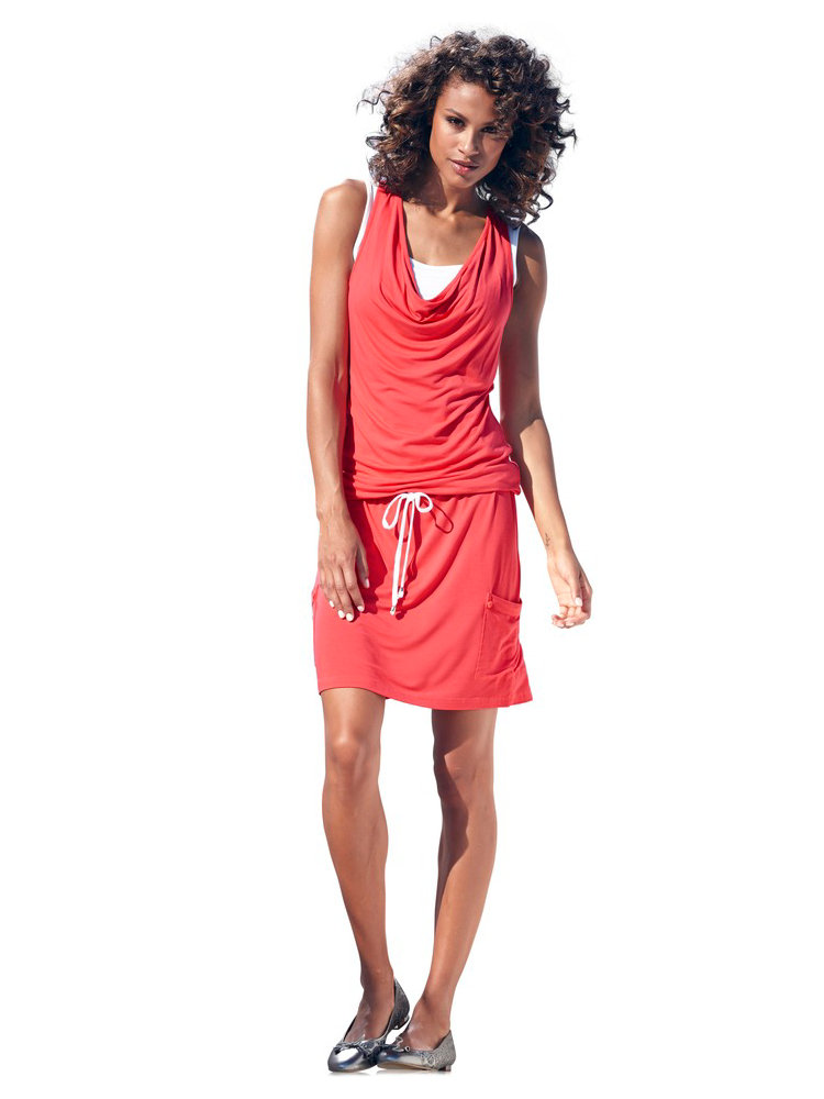 robe fluide courte en matiere sweat taille resserree With robe courte fluide