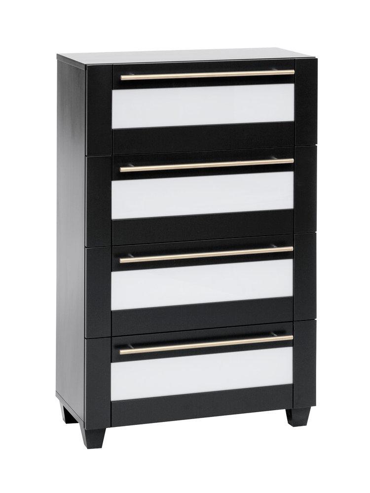 commode chiffonnier en bois tiroirs insert en verre. Black Bedroom Furniture Sets. Home Design Ideas