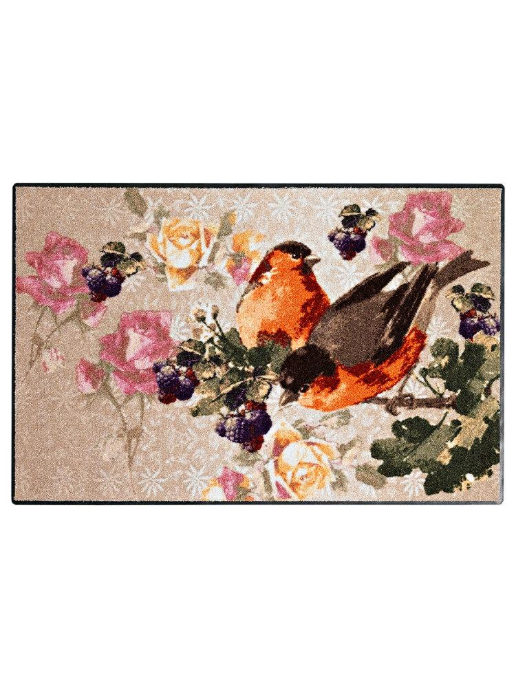 Tapis D 39 Entr E En Nylon Imprim Oiseaux Vintage Helline