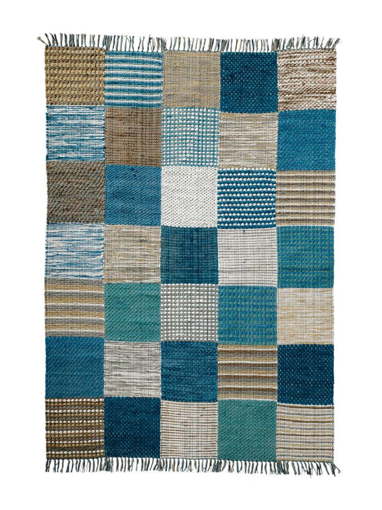 tapis tiss plat motif patchwork color d cor main helline. Black Bedroom Furniture Sets. Home Design Ideas