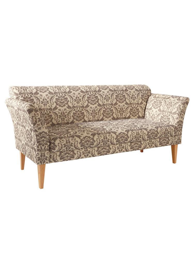 canap banquette original pieds en bois et accoudoirs helline. Black Bedroom Furniture Sets. Home Design Ideas