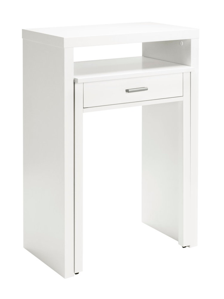 bureau gigogne en bois un tiroir helline