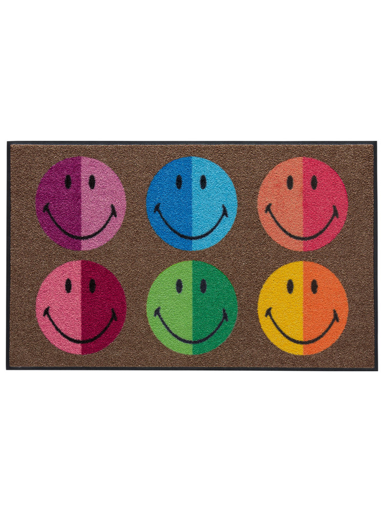 tapis d 39 entr e antid rapant imprim s smiley original helline. Black Bedroom Furniture Sets. Home Design Ideas