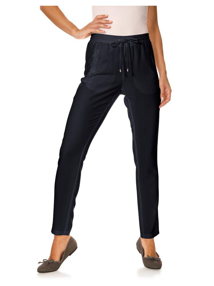 Pantalon jogging femme fluide, coupe style carotte - helline