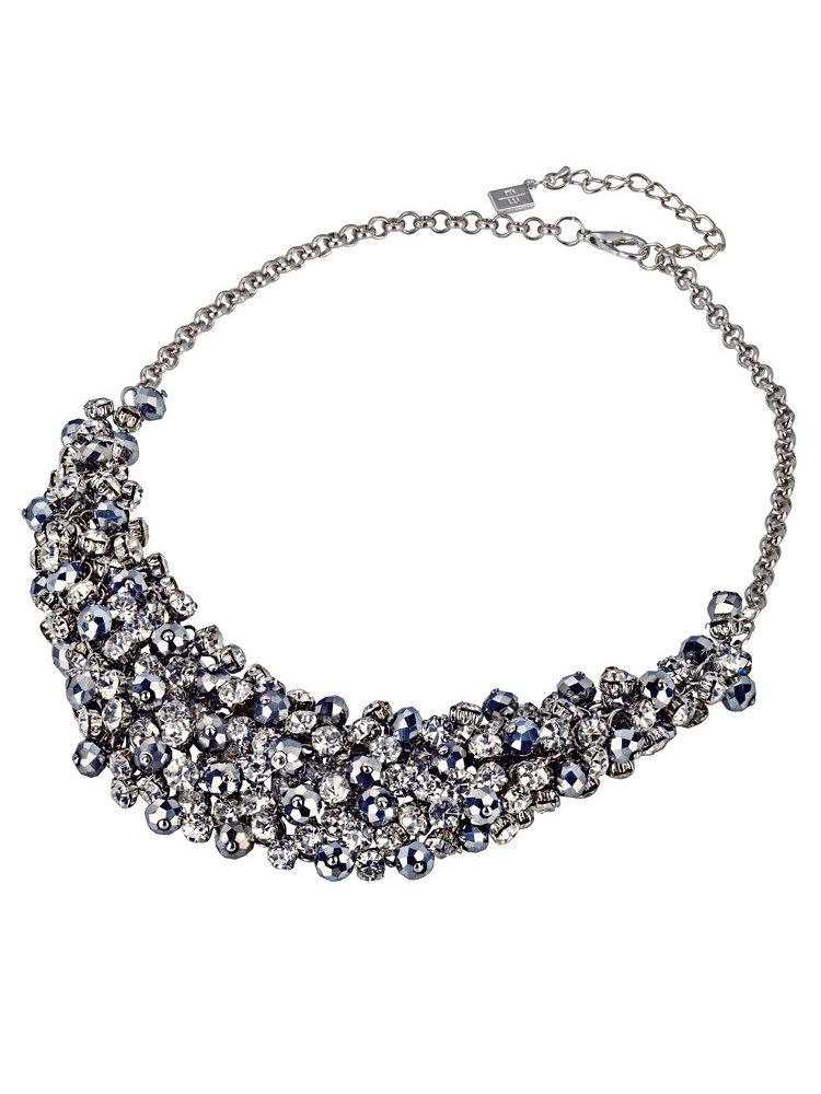 collier fantaisie ras de cou en perles et pierres helline. Black Bedroom Furniture Sets. Home Design Ideas