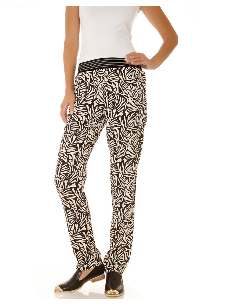 pantalon femme ample et fluide imprim graphique helline. Black Bedroom Furniture Sets. Home Design Ideas