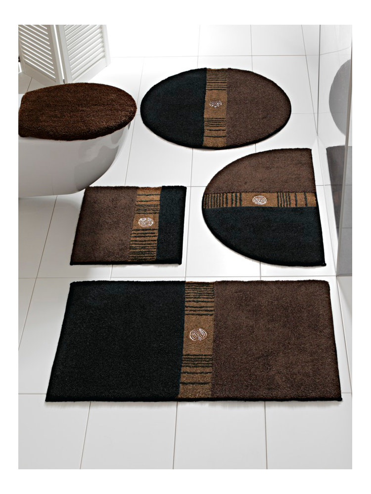 tapis de bain marron homeezy. Black Bedroom Furniture Sets. Home Design Ideas
