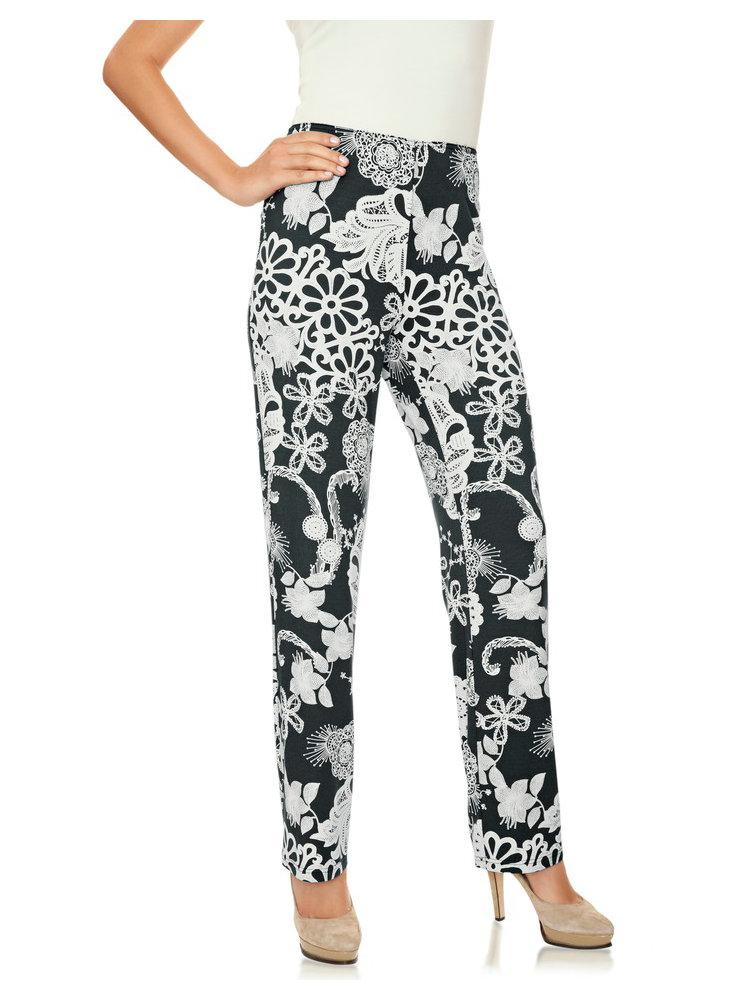 pantalon femme fluide de d tente imprim floral helline. Black Bedroom Furniture Sets. Home Design Ideas