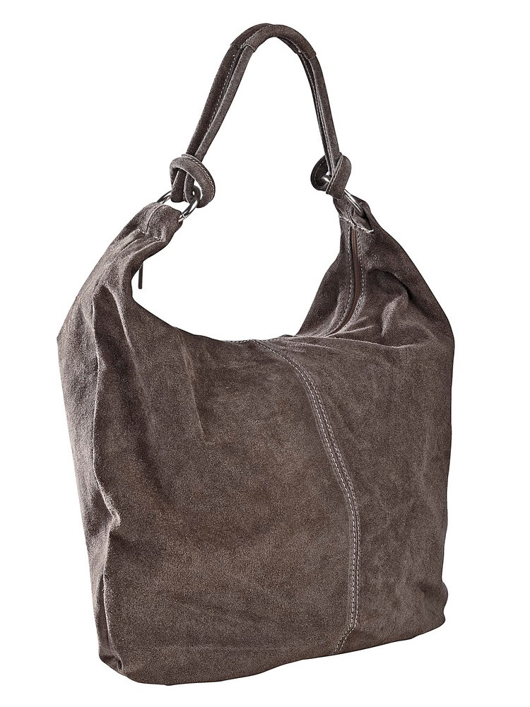 sac cabas en cuir velours souple fermeture clair helline. Black Bedroom Furniture Sets. Home Design Ideas