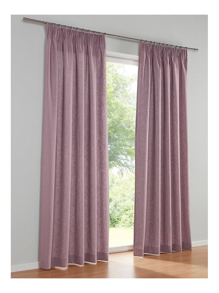rideau en lin uni attache oeillets ou ruban fronceur helline. Black Bedroom Furniture Sets. Home Design Ideas
