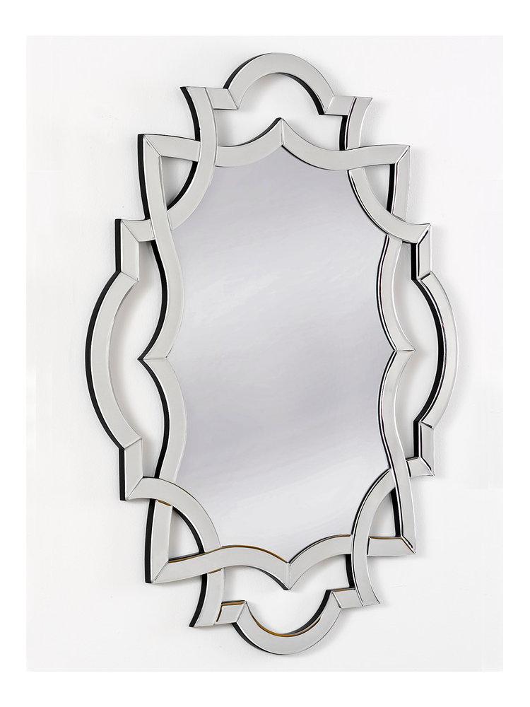 Miroir mural avec cadre original chrom helline for Miroir mural original