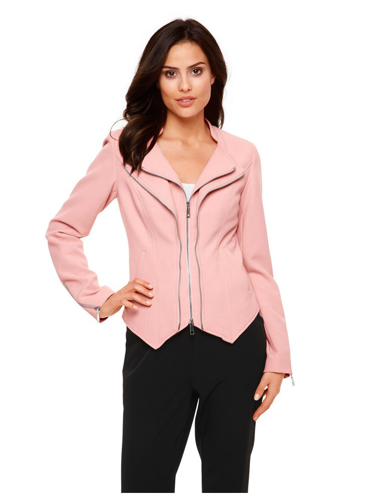 blazer femme court rose et ajust double col revers helline. Black Bedroom Furniture Sets. Home Design Ideas