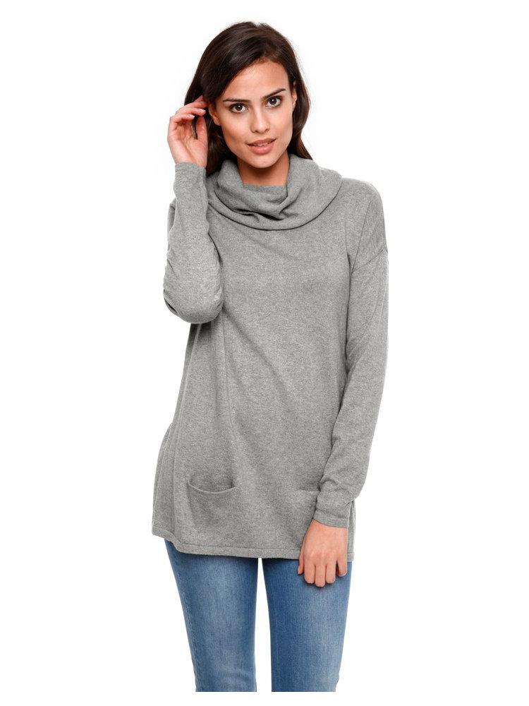 Femme Vêtements - Sandro Pull ample à rayures Ecru Col V AQQRBTX. Pull à la coupe ample, présentant des rayures de tailles différentes de couleur contrastée.