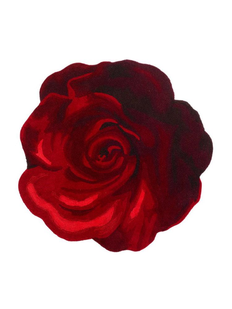 tapis original en laine en forme de rose helline. Black Bedroom Furniture Sets. Home Design Ideas