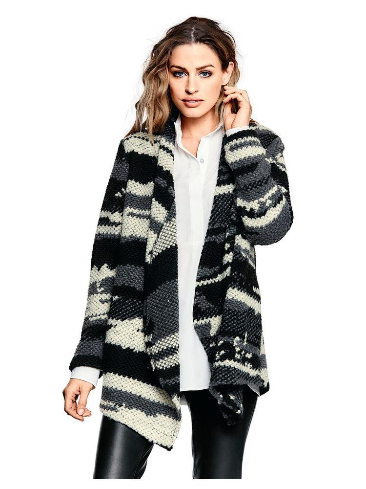veste femme en tricot pais motifs originaux helline. Black Bedroom Furniture Sets. Home Design Ideas