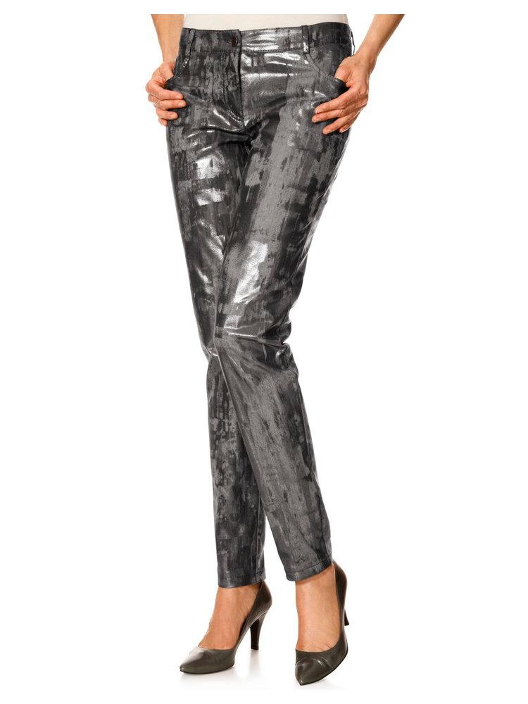 Pantalon femme original coupe droite imprim m tallis helline - Pantalon coupe droite femme ...