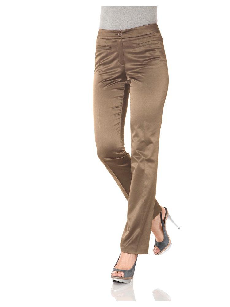 pantalon uni satin femme coupe droite classique helline. Black Bedroom Furniture Sets. Home Design Ideas