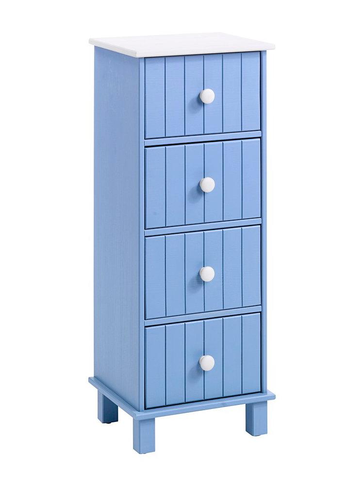 Commode en bois massif tiroirs et poign es rondes helline - Commode plusieurs tiroirs ...