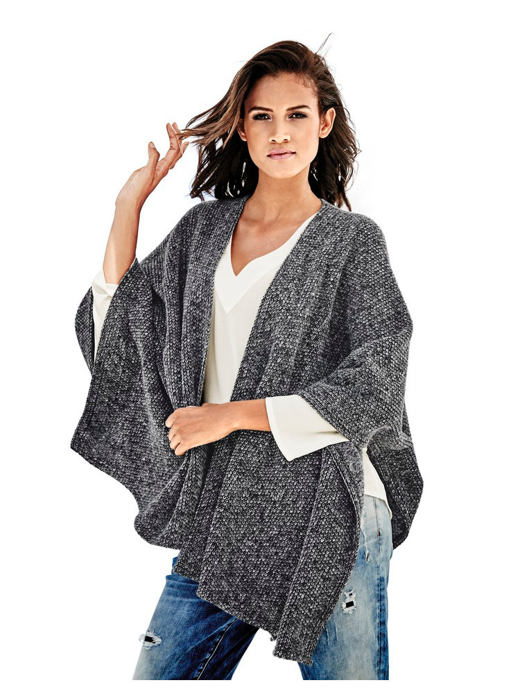 poncho en tricot femme pictures to pin on pinterest