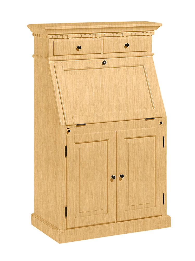 bureau secr taire en bois massif avec critoire pliable. Black Bedroom Furniture Sets. Home Design Ideas