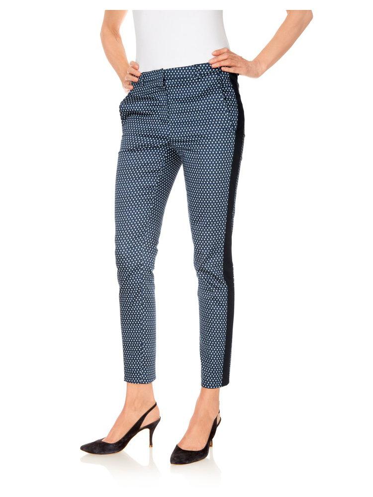 Pantalon femme coupe droite imprim mode helline - Pantalon coupe droite femme ...