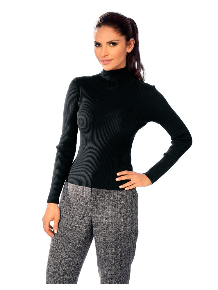 Pull Over Femme Col Roul Style Classique
