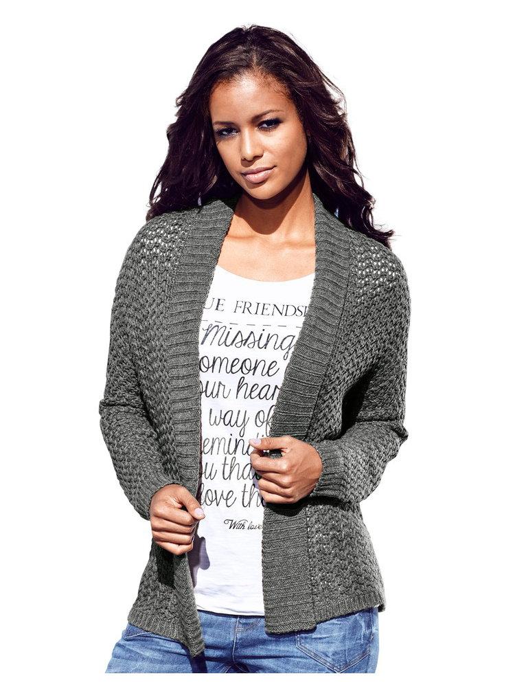 gilet femme en tricot grosse maille c tel e tendance helline. Black Bedroom Furniture Sets. Home Design Ideas
