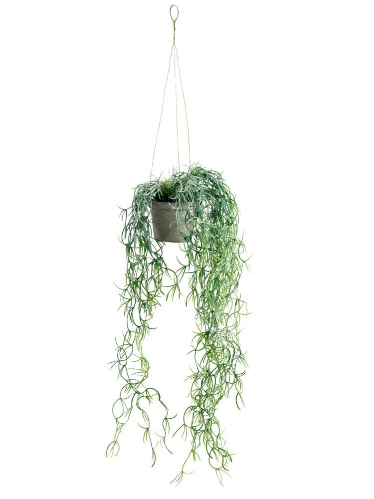 Pot suspendre avec plante artificielle tombante helline for Plante tombante