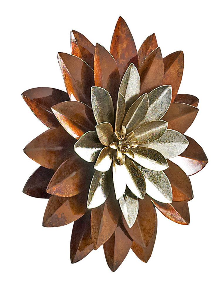 D coration murale en forme de fleur en m tal helline - Decoration murale fleur ...