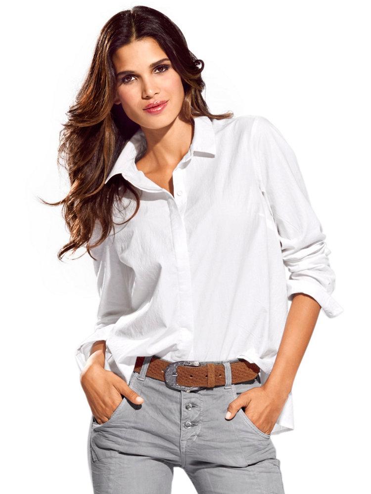 Chemisier Blanc Ample Pour Femme Style D Contract Helline