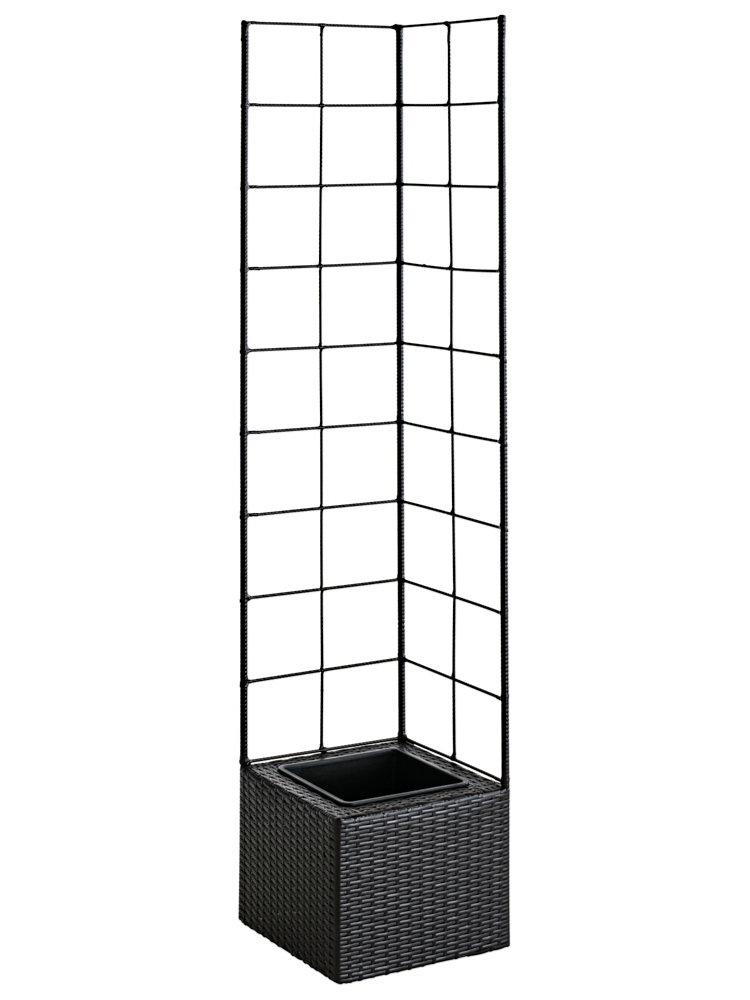 bac fleurs de style moderne avec treillage en m tal. Black Bedroom Furniture Sets. Home Design Ideas