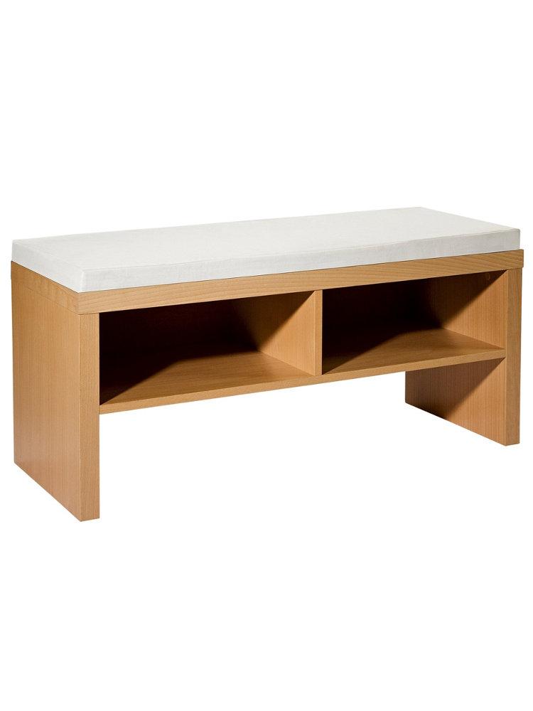 banc de rangement en bois helline. Black Bedroom Furniture Sets. Home Design Ideas