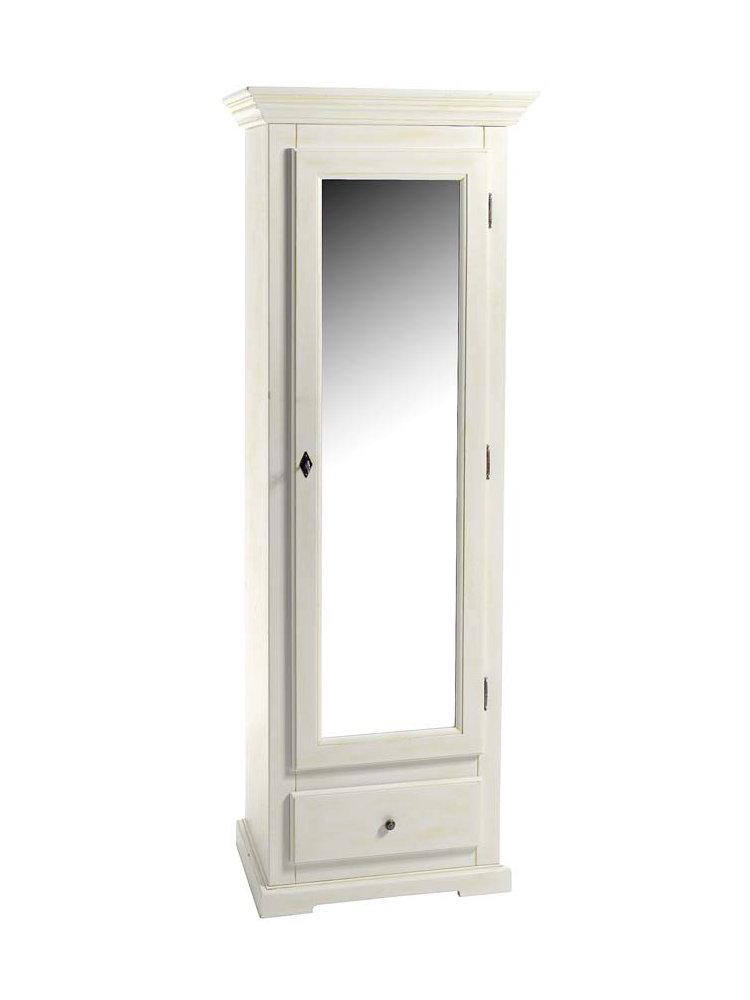 Armoire penderie en bois massif un tiroir helline - Armoire penderie porte ...