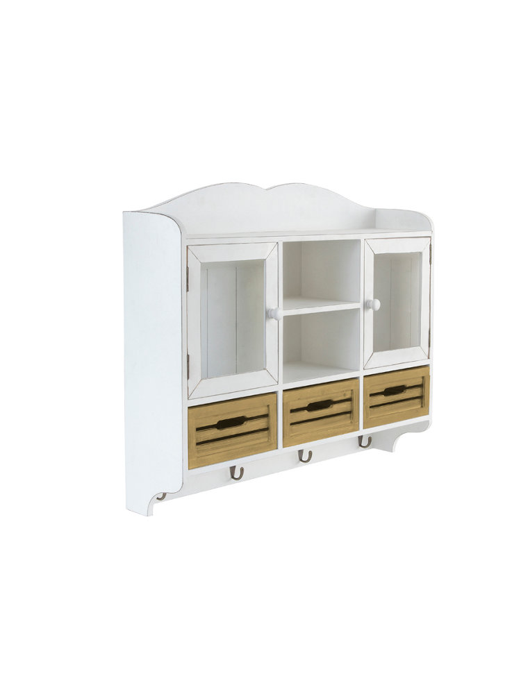 meuble de cuisine mural blanc en bois tiroirs int gr s helline. Black Bedroom Furniture Sets. Home Design Ideas