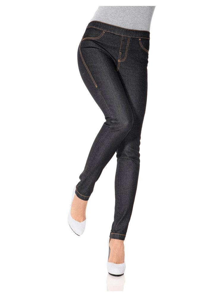 leggings femme taille lastiqu e effet jean helline. Black Bedroom Furniture Sets. Home Design Ideas