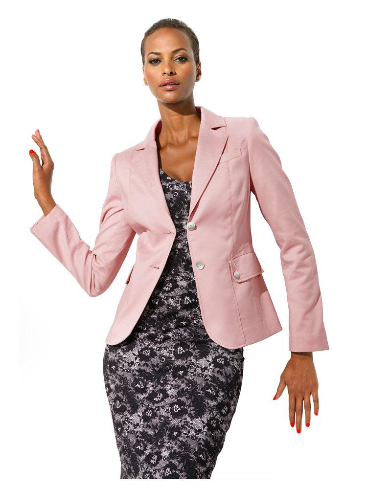 blazer rose femme coutures verticales effet gainant. Black Bedroom Furniture Sets. Home Design Ideas