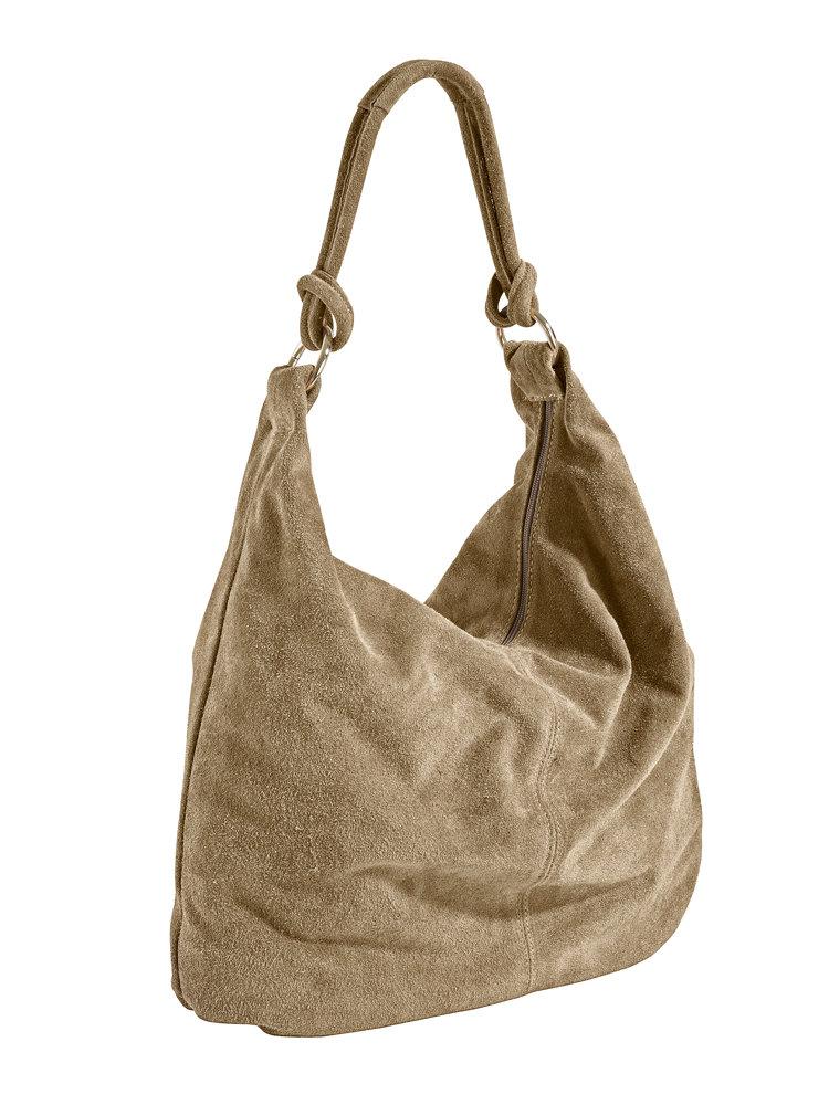 sac cabas en cuir velours souple fermeture clair. Black Bedroom Furniture Sets. Home Design Ideas