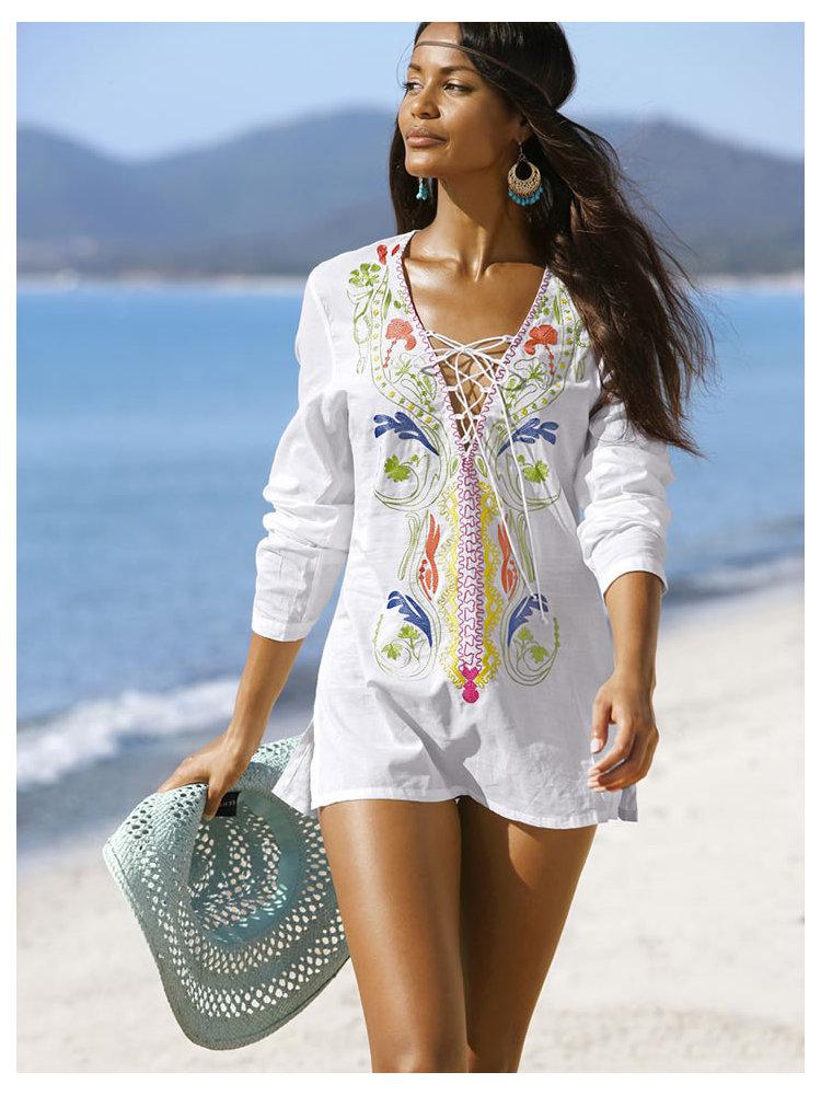 Купить Тунику Для Пляжа Из Хлопка