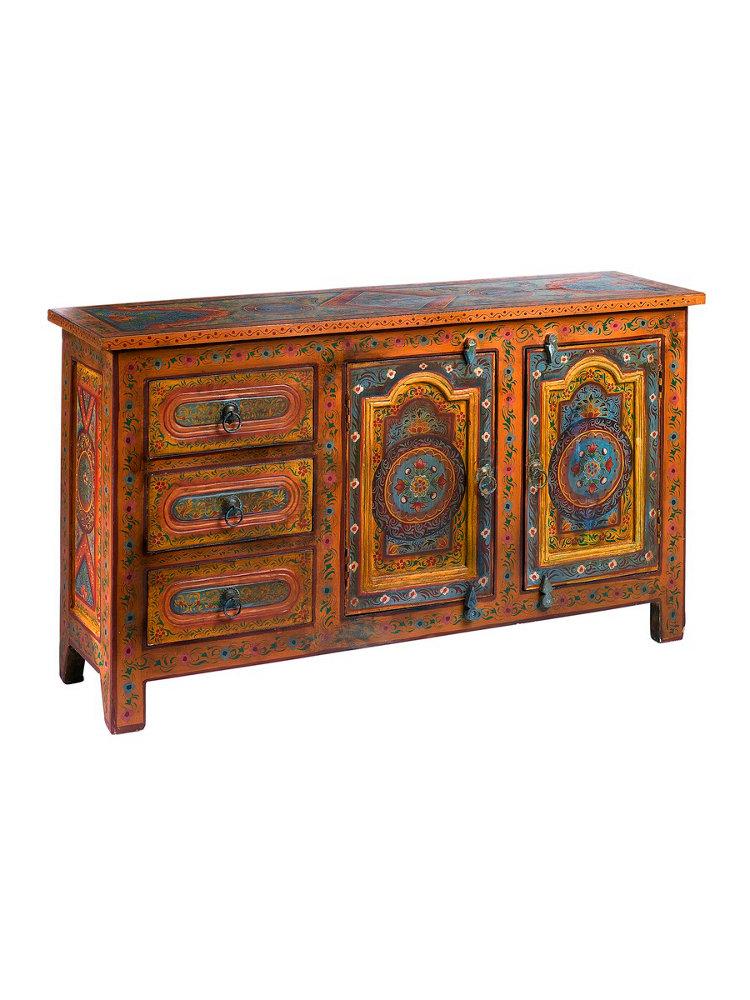commode multicolore en manguier et m tal stil jardin d ulysse l 100 x pictures to pin on. Black Bedroom Furniture Sets. Home Design Ideas