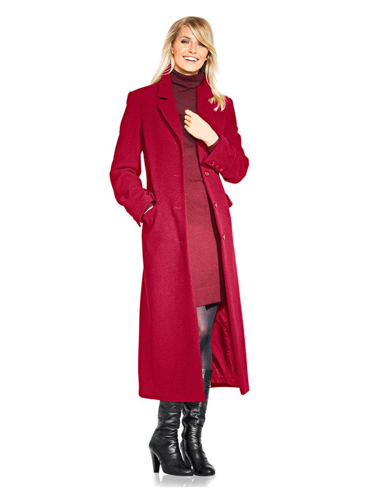 manteau long uni forme caban poches pour femme helline. Black Bedroom Furniture Sets. Home Design Ideas
